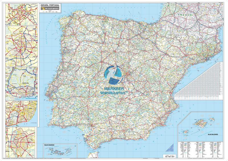 Road Map Of Portugal And Spain.Spain Portugal Roadmap