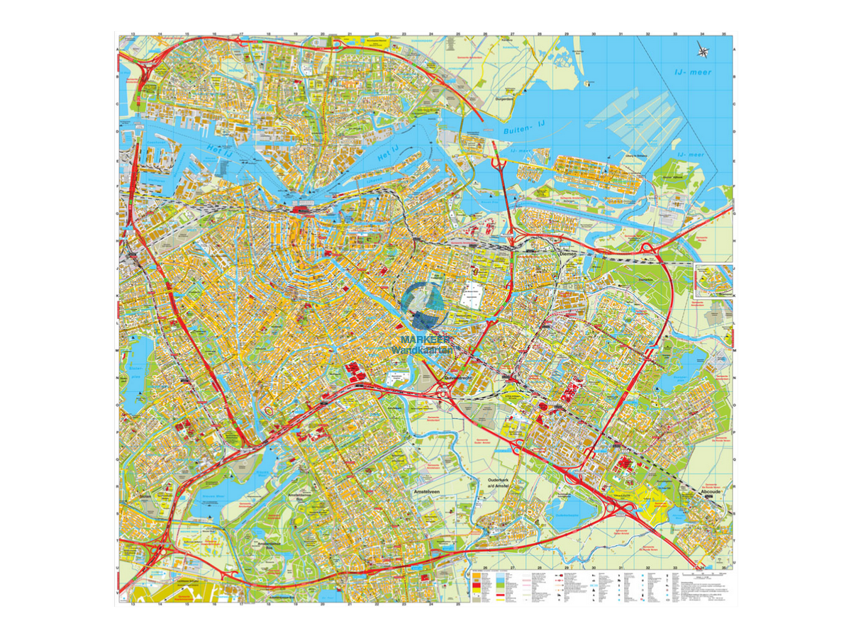 Amsterdam City Map Cito pinboard MARKEER Wall Maps