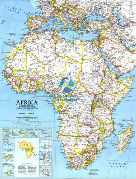 Africa Reference Map Political 9m Ng Markeer Wall Maps